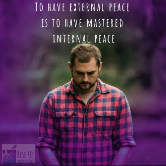 World peace begins with inner peace. (1)